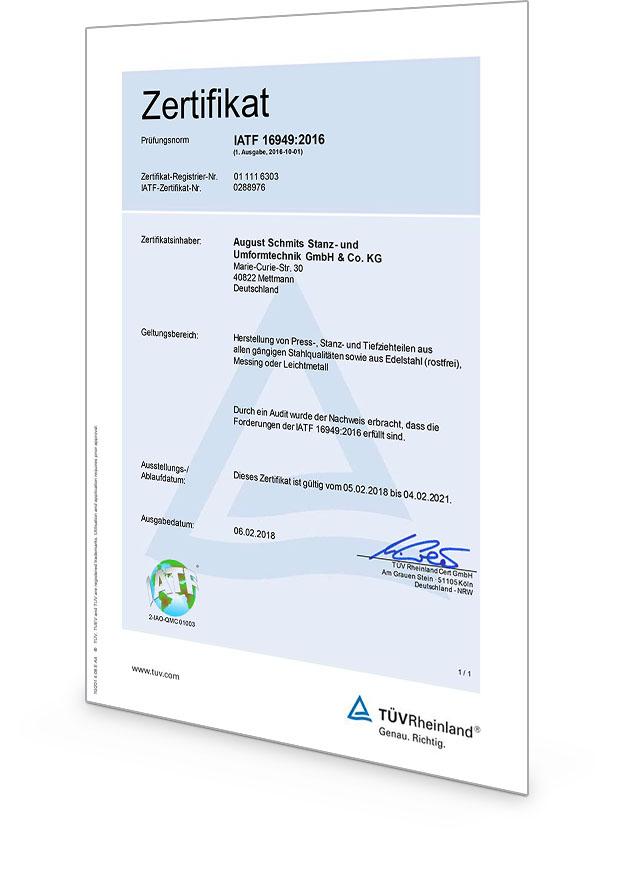 IATF Zertifikat